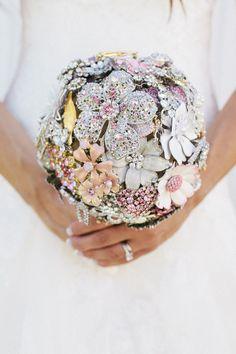 Large Custom Round Brooch Bouquet