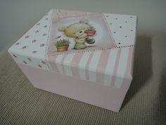 Caixinhas MDF Ursinho Patchwork by Nuvem rosa - artesanato e decoração baby & kids , via Flickr