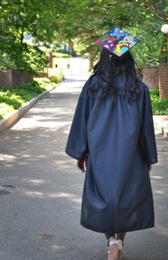 My ankara-inspired graduation cap #UVA #2014 | Ankara. Mortar Board. Graduation Cap. Wax Print.