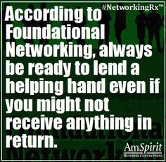 #NetworkingRx: In what small way could you help someone today?