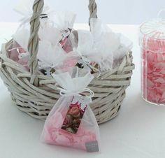 Ten Natural Pink Rose Petal Confetti Bags