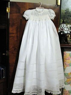 Hand Embroidered Christening Gown