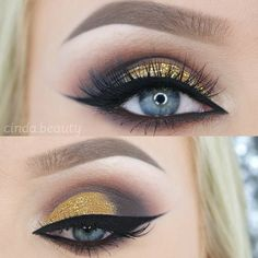 """2,284 Me gusta, 49 comentarios - Cinderella (@cinda.beauty) en Instagram: """"❤ Holo & Rose Gold ❤ Another Makeup Look for Christmas but definitely very wearable ❤ Used…"""""""