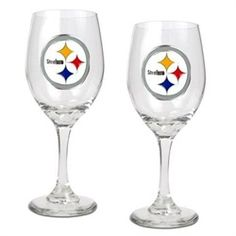Pittsburgh Steelers Set of 2 Wine Glasses