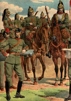 French Cavalry & Artillery, 1916