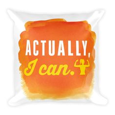 Actually, I can - Square Pillow (orange) from ASSKICKER INK.  Great gift idea! This soft pillow is an excellent addition that gives character to any space. It comes with a soft polyester insert that will retain its shape after many uses, and the pillow case can be easily machine washed.
