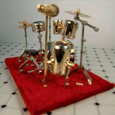 dollhouse miniature instruments | dollhouse miniature drum set miniature musical instrument mini 4 inch
