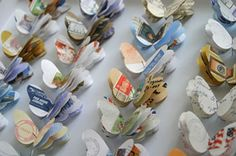 Cut out butterflies ~ neat paper project using old magazines ~ From:: The Rag & Bone Blog