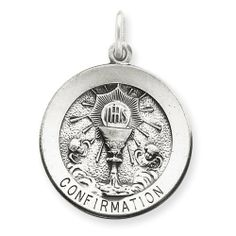 Sterling Silver Antiqued Confirmation Medal Real Goldia Designer Perfect Jewelry Gift goldia. $34.37