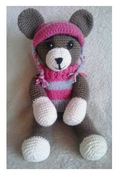 Vánoční medvědice vybavená na zimu v různých barvách Teddy Bear, Toys, Animals, Activity Toys, Animales, Animaux, Clearance Toys, Teddy Bears, Animal