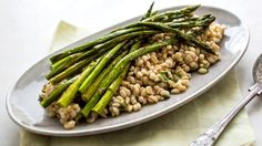 Barley and Herb Salad With Roasted Asparagus  #MeatlessMonday