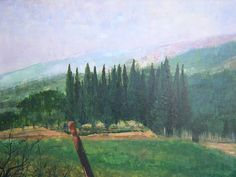 """""""A Stand of Cypresses""""  Giclee Print-$85.00 Free Shipping 2015 Contact: MB.artwork@verizon.net"""