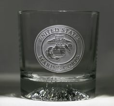 Engraved Marines Whiskey Scotch Bourbon Glasses | Crystals ...