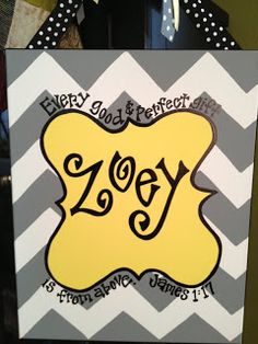 perfect baby gift!  Made to match the nursery and can be used on the hospital door too!  16x20 $50