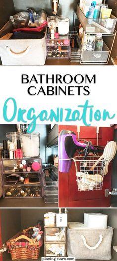 Trendy Ideas For Bathroom Inspiration Small Storage Spaces Bathroom Cabinet Organization, Bathroom Cabinets, Organization Hacks, Organizing Ideas, Cabinet Storage, Bathroom Shelves, Bathroom Vanities, Bathroom Furniture, Bathroom Interior