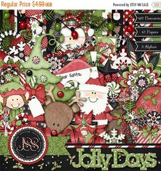 On Sale 50% Christmas, Holiday, Jolly Days, Digital Scrapbook Kit, Scrapbooking On Sale 50% Christmas, Holiday, Jolly Days, Digital Scrapbook Kit, Scrapbooking On Sale 50% Christmas, Holiday, Jolly Days, Digital Scrapbook Kit, Scrapbooking 🔎zoom Item details 4.5 out of 5 stars.      (656) reviews Shipping & Policies This is a full 12x12 300 dpi Christmas kit. The kit includes 467 Elements, 47 Papers and 3 Alphas. I made the little characters for this kit using some of the cutest little…