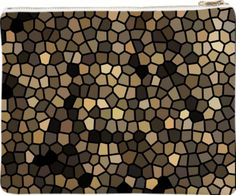 Dressy Black, beige and brown mosaics clutch by Khoncepts.com