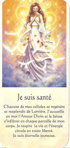 Mario Duguay- Message Lumière Je suis santé Vie Positive, Positive Attitude, Positive Thoughts, Spiritus, Meditation Benefits, Self Empowerment, Oracle Cards, Osho, Spiritual Inspiration