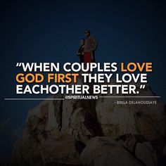 Look at the fruit of earthly relationships; divorce. Love God together; it's Biblical and successful. God knows what's best for us!