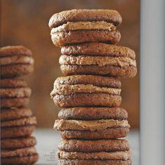 Milk Chocolate Mini Cookies With Milk Chocolate-Sour Cream Frosting