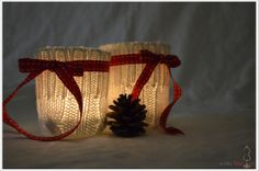 Der a-little-fashion-Adventskalender: 02. Dezember  – Kerzengläser mit Strick