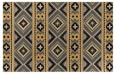 5'x8' Wythe Rug, Dove Gray/Gold   Foundations in All Styles   One Kings Lane