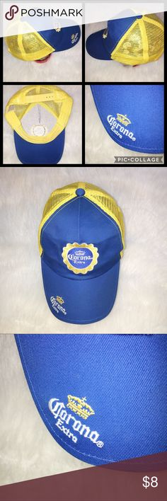 🌀CORONA EXTRA SNAP BACK HAT. ONE SIZE. CORONA EXTRA BEER HAT. ADJUSTABLE SNAP BACK. NOT IN THE BEST STRUCTURAL CONDITION BUT IS A SWEET HAT. MAKE AN OFFER. Accessories Hats