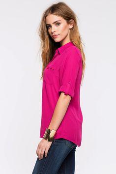 Блуза с карманами Размеры: S, M, L Цвет: кофе с молоком/хаки, малиновый, темно-синий, белый Цена: 1258 руб.   #одежда #женщинам #блузы #коопт