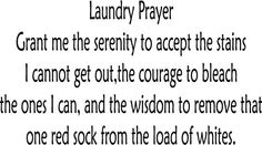 Items similar to Laundry room Prayer vinyl decal sticker cute and funny laundry decor on Etsy