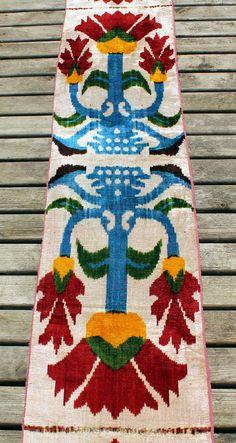 3.51 Yard Velvet Fabric Velvet Ikat Fabric Handmade by YASTK
