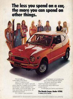 1972 Honda Coupe ad.