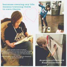 #sallyclarkson #ownyourlifebook Sally Clarkson, Call Her, Proverbs, Affair, Health Tips, Baseball Cards, Children, Life, Women