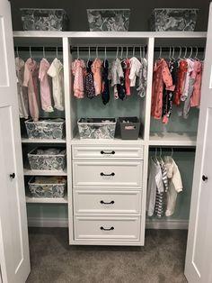 Baby room design Nursery Closet Organization House 44 Ideas Should the Baby Nursery Closet, Baby Bedroom, Closet Bedroom, Baby Room Decor, Girl Nursery, Girl Room, Baby Girl Closet, Baby Closets, Nursery Ideas