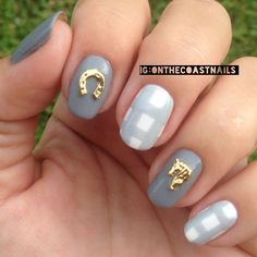 Show us your tips—tag your nail photos with to be featured on our social sites! Fancy Nails, Cute Nails, Pretty Nails, My Nails, Horse Nail Art, Horse Shoe Nails, Pastel Nails, Acrylic Nails, Country Girl Nails