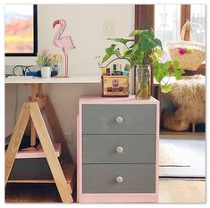 Oh my Chalk! Oh My Chalk, Dresser As Nightstand, Chalk Paint, Pink Grey, Berry, Table, Furniture, Ideas, Home Decor