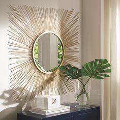 Elspeth - Gold Finish - Accent Mirror by Signature Design by Ashley. Get your Elspeth - Gold Finish - Accent Mirror at JB's Furniture, Milwaukee WI furniture store. Ring Light Mirror, Decor Interior Design, Interior Decorating, Interior Modern, Interior Accessories, Best Decor, Metal Mirror, Lighted Mirror, Mirror Mirror