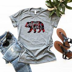 Excited to share this item from my shop: New Plaid Mama Bear shirt // Mama Bear Buffalo Plaid // Fall // Holiday //Mama // Mama Bear // Plaid // Distressed // Baby Shower Gift Baby Shower Shirts, Mexico Shirts, Plaid Shirt Outfits, Mama Bear Shirt, Taco Shirt, Buffalo Plaid Shirt, Tacos, Fall Plaid, Vinyl Shirts