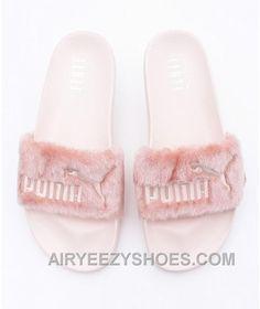 ae1a53d68164 PUMA X RIHANNA LEADCAT FENTY Sandal Pink Fur Slide Super Deals R4DzFJ