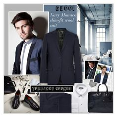 """""""WOOL SUIT:Torrance Coombs"""" by alves-nogueira ❤ liked on Polyvore featuring H&M, Dolce&Gabbana, Berluti and Brioni"""