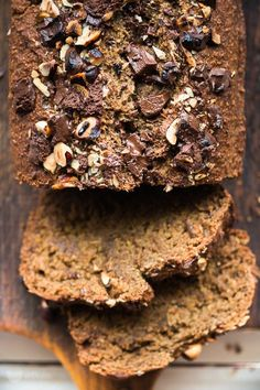 Banana bread with oats (without flour) Baby Food Recipes, Sweet Recipes, Cake Recipes, Dessert Recipes, Desserts, Vegan Sweets, Healthy Sweets, Healthy Food, Banana Oat Bread