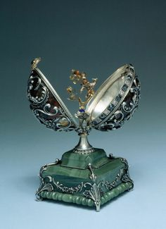 """Faberge Eggs all included a """"surprise"""" inside ~ A Fabergé Egg from the Kremlin Museum collection"""