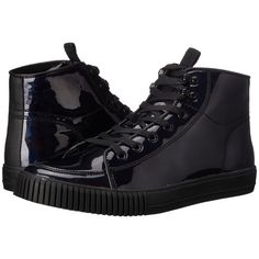 Calvin Klein Jeans Jenson (Black/Black Iridescent/Canvas) Men's Lace...  ($50) ❤ liked on Polyvore featuring men's fashion, men's shoes, men's  sneakers, ...