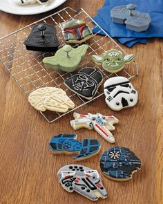I'd be the most awesome mom ever.... Star Wars™ Vehicles Cookie Cutters #williamssonoma