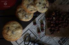 Galletas de avellanas y chocolate, cookies de avellanas y chocolate con leche, milk chocolate and hazelnut cookies, receta de cookies, food photography, blog de cocina