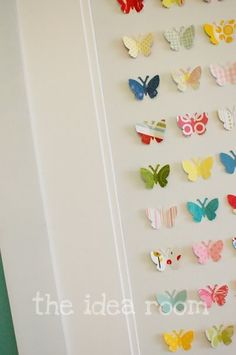 would be cute in a girl's room! Or in a bathroom.  I am thinking of doing it in shades of the same color