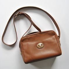 Burberry Brown Leather Purse Handbag by ModernSquirrel on Etsy