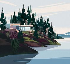 Illustrated cabins by www.cruschiform.com/