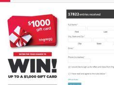 hhgregg Gift Card Sweepstakes