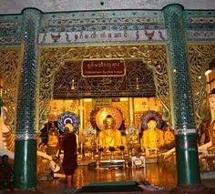"""Nine Wonders of Shwedagone pagoda: 4. Shin Ma Hti Buddha Image is located in the north prayer hall of Naung Daw Gyi Pagoda. It is said that the monk Shinmahti built this pagoda about one thousand years ago."" #NineWonders #Shwedagone #Pagoda #Shinmahti #Yangon #Buddha"