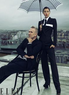Jessica Biel with Jean Paul Gaultier